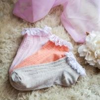 3 PK Pastel Lace Trim Socks / £2.00